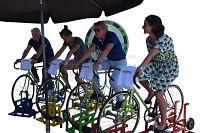 Hometrainer huren waarbij meerdere personen tegelijkertijd kunnen fietsen