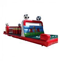 Hindernisbaan huren met voetbal thema bij Attractieverhuur Moonen